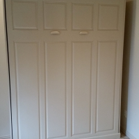Closed Custom White Murphy Bed