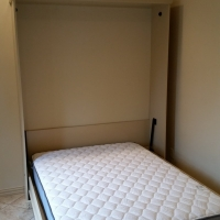 Open Custom White Murphy Bed