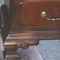 Closeup of Repaired Dresser Foot