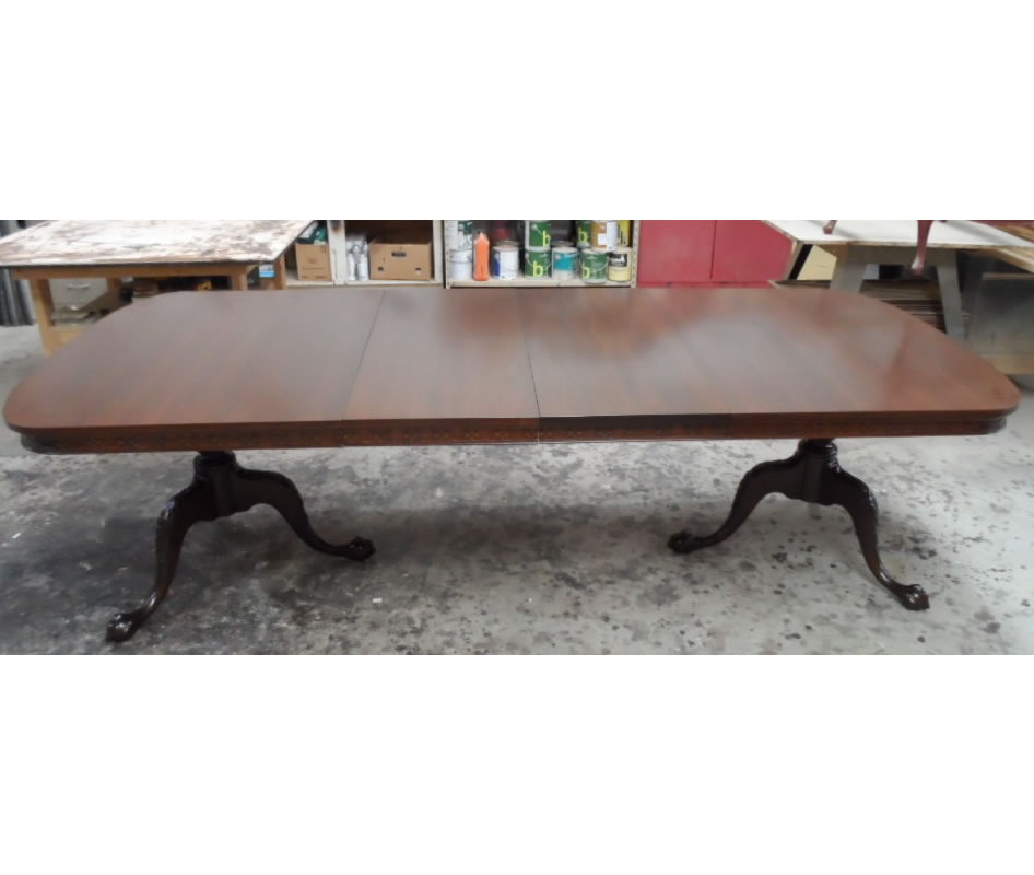 Dining Table with Repaired Legs