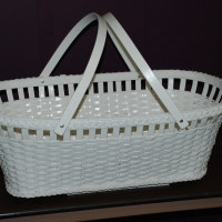 Vintage Wicker Bassinet - After