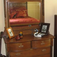 Antique American Oak Dresser - After