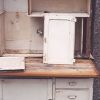 Antique Baking Hutch - Before