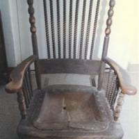 Antique Oak Rocker - Before