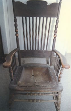 Antique Oak Rocker - Before
