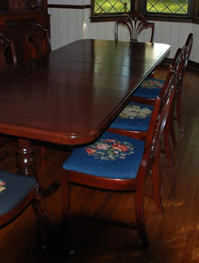 Refinished table and chair set