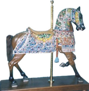 Repaired carousel horse