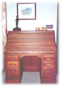 "We restored the desk used by ""Doc"" on the long-running television show ""Gunsmoke"""