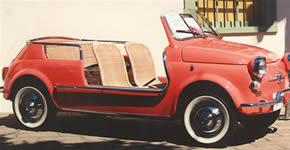Fiat Jolly car seat restoration
