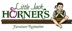 Little Jack Horner's logo - little boy pulling plum from pie