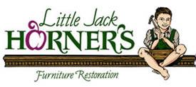 Little Jack Horner's logo - little boy pulling plum from pie